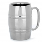 Stainless Steel Beer Cup - Silver (400ml)