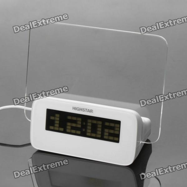 3.0 LCD Digital Alarm Clock with USB 4-Port HUB / Message Board / Calendar / Thermometer (3 x AAA) tl 031 2 3 lcd thermometer w clock countdown white black 1 x aaa