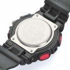 Diving Sports Dual Time Display Wrist Watch w/ Alarm Clock / Stopwatch - Black + Red (1 x CR2016)