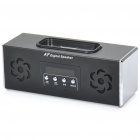 "Rechargeable 1.3"" LED Docking Speaker Station with FM / TF / USB for iPod / iPhone - Black"