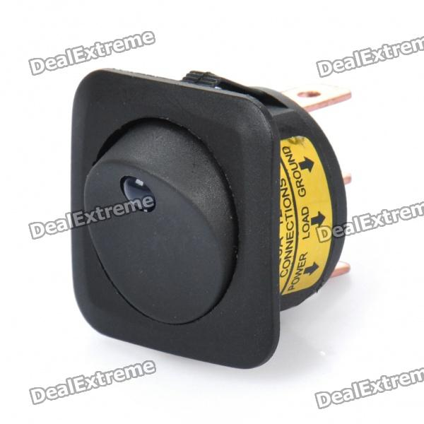ST0428 Car Rocker Switch with Blue Indicator Light (DC 12V)Car Switches<br>Model:Material:Form  ColorBlackPacking List<br>