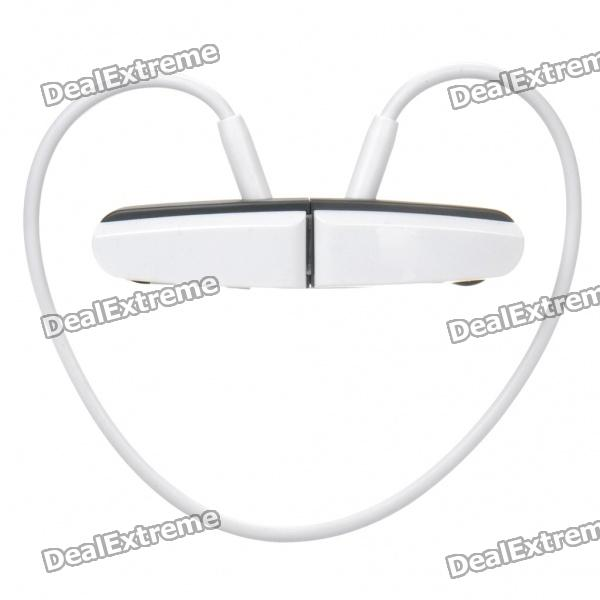 Sports USB Rechargeable MP3 Player Headset - White + Black (2GB)