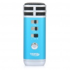 I9 Stylish Mini Portable KTV Singing Karaoke Player for Computer / Cellphone / MP3 / MP4 - Blue
