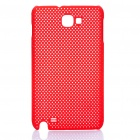 Stylish Protective Mesh Style Back Case for Samsung i9220 - Red
