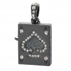Playing Card Ace of Spades Style USB 2.0 Flash Drive Keychain - Black (16GB)