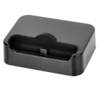 Portable Charging Docking Station w/ USB Cable + Base Protector for Samsung i9100 / Nexus S - Black