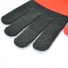 Universal Touch Screen Winter Gloves for Iphone / Ipad / Ipod (Black + Red)