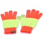 Universal Touch Screen Winter Gloves for iPhone / iPad / iPod (Red + Light Green)