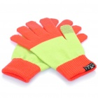 Guantes de invierno de pantalla táctil universal para Iphone / Ipad / Ipod (Red + Green Light)