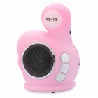 Cute Thumb Style Rechargeable Speaker MP3 Music Player with FM / TF / USB (Pink)