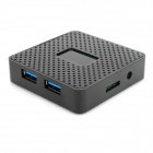 High Speed 5Gbps USB 3.0 4-Port Hub - Black
