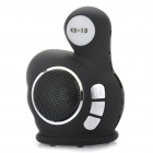 Cute Thumb Style Rechargeable Speaker MP3 Music Player with FM / TF / USB (Black)