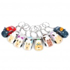 Pleasant Goat and Big Big Wolf Car Style Keychains Set (8-Piece Set)