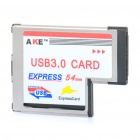 AKE 54mm Express Card to 2-Port USB Card Adapter for Notebook - Grey