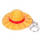 Cute One Piece Monkey D Luffy Hat Style ABS Keychain - Yellow + Silver + Red