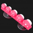 Multi-Function Mushroom Head Style Toothbrush Holder Set with Suction Cups - Random Color