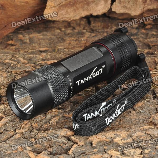 Tank007 TK-360 200-Lumen 5-Mode Memory LED Flashlight with Strap (1 x CR123A / 16340)
