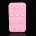 Mini Suction Cup Silicone Pad for Mobile Phone - Pink
