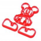 Cute DIY Mickey Style Cookie / Bread Baking Mould - Red