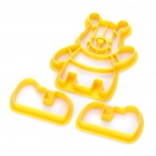 Cute DIY Winnie the Pooh Style Cookie / Bread Baking Mould - Yellow