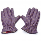 Stylish Lady Leather Gloves - Purple (Pair/Size: L)