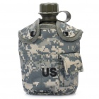 Outdoor Sports US Military Canteen with Aluminium Cup - Camouflage
