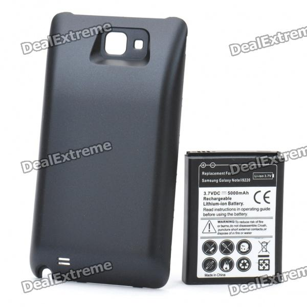 """Replacement 3.7V """"5000mAh"""" Battery w/ Cover for Samsung i9220"""