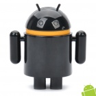 Cute Android Robot Style 4000mAh Emergency Battery Pack w/ Adapters for Cell Phone + More - Black