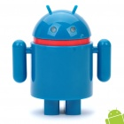 Cute Android Robot Style 4000mAh Emergency Battery Pack w/ Adapters for Cell Phone + More - Blue