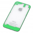 Replacement Transparent Back Cover Case for iPhone 4S - Green