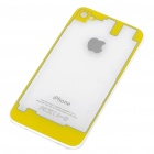 Replacement Transparent Back Cover Case for iPhone 4S - Yellow