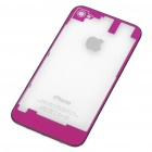 Replacement Transparent Back Cover Case for iPhone 4S - Deep Pink