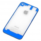 Replacement Transparent Back Cover Case for iPhone 4S - Blue