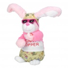 Cute Singing and Dancing Long Ear Rabbit Toy - Pink (4 x AA)