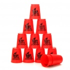 Sport Stacking Speed Stack Cups Toy Set - Red (12-Piece)