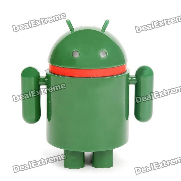 Android Robot Style 4.2V/4000mAh Rechargeable Mobile Power Pack - Green