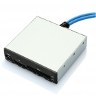 "USB 3.0 3.5 ""Internal All-in-1 Card Reader - Plata + Negro"