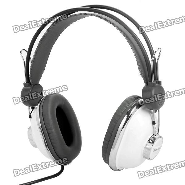 Fashion Online Games 3.5mm Stereo Headphone with Microphone - White