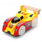 Stylish Four Wheel Drive Car Toy w/ Music and Light - Yellow + Red