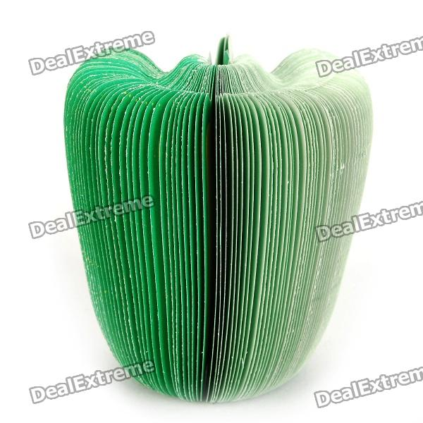 Mini Green Pepper Style Memo Pad Note Paper - Cyan (150-Page) unique creative apple shaped memo pad large about 150 page
