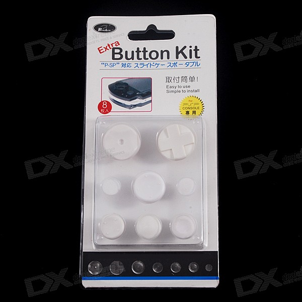 PSP Button Enhancer Caps (8-Piece Set)