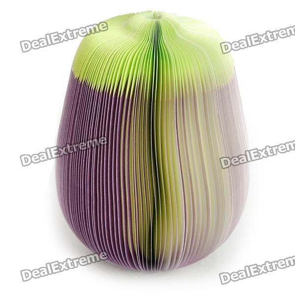 Mini Eggplant Style Memo Pad Note Paper - Purple (150-Page) 140 page note paper creative fruit design