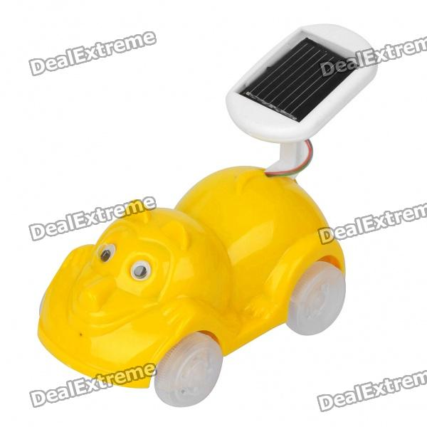 Cute Solar Powered Cartoon Car Toy - Yellow solar battery powered butterfly random color