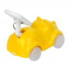 Cute Solar Powered Cartoon Car Toy - Yellow
