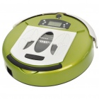 "2.2"" LCD Rechargeable Smart Robotic Auto Vacuum Cleaner w/ Remote Control - Green (AC 100~240V)"