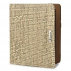 Fashion Woven Pattern Protection Foldable Cover Case for iPad 2 - Khaki