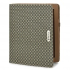 Fashion Woven Pattern Protection Foldable Cover Case for iPad 2 - Ink Color