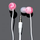 Cute Lollipop In-Ear Stereo Earphone - Pink (3.5mm-Plug / 118cm-Cable)