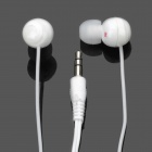 Cute Lollipop In-Ear Stereo Earphone - White (3.5mm-Plug / 118cm-Cable)