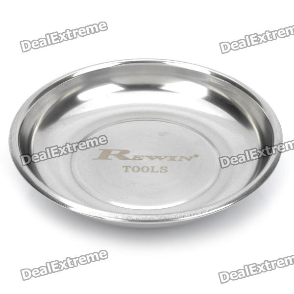 150mm Stainless Steel Magnetic Parts Tray Dish - Silver
